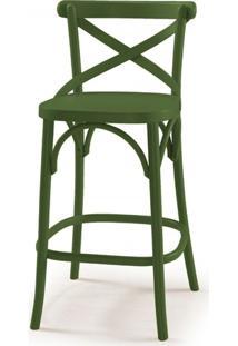 Cadeira Madeira Maciça Alta 100Cm X Maxima Verde Musgo
