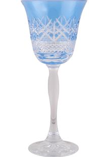 Taça De Cristal Lodz Para Vinho De 170 Ml - Azul Primavera