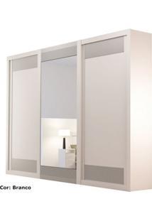 Guarda-Roupa Supreme 3 Portas De Correr Com Espelho 100% Mdf Branco - Rufato, Decorações Moveis