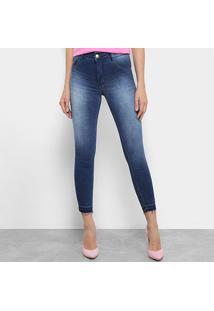 b2600969e ... Calça Jeans Skinny Biotipo Melissa Cintura Média Soft Feminina -  Feminino-Azul