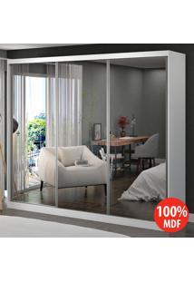 Guarda Roupa 3 Portas Com 3 Espelhos 100% Mdf 1903E3 Branco - Foscarini
