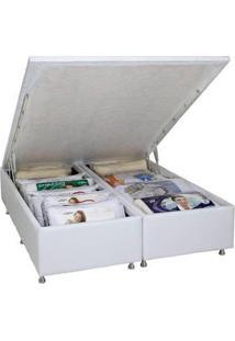 Cama Box Casal Ortobom Americana Bau Cori Bianco 1380X1880X0390