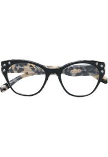 Miu Miu Eyewear Óculos De Sol Com Aplicações - Preto