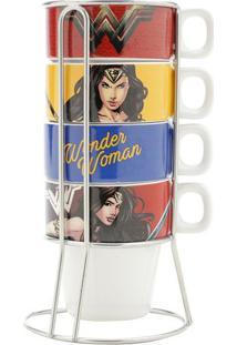 Jogo De Xícaras Para Cappuccino Da Mulher Maravilha®- Veurban