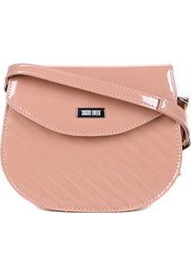 Bolsa Santa Lolla Mini Bag Transversal Feminina - Feminino-Nude