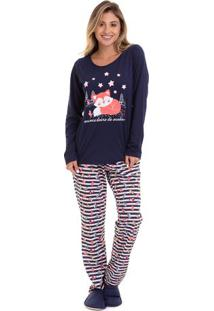Pijama De Inverno Raposa Feminino Adulto Luna Cuore