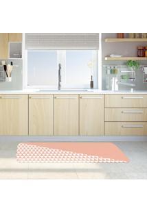 Tapete De Cozinha Mdecore Geométrico Rosa 40X120Cm