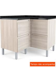 Balcão Para Cozinha Belíssima Plus 4 Ptsaara Wood E Saara Wood Cetim 97 Cm