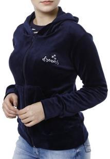 Jaqueta Feminina - Feminino-Azul