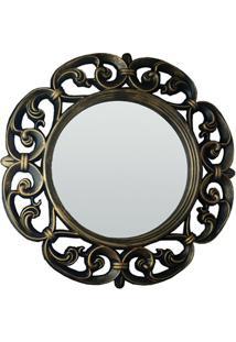 Espelho De Parede Vênus 60X60Cm Dourado Velho