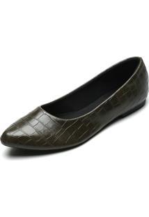 Sapatilha Dafiti Shoes Croco Verde - Verde - Feminino - Sintã©Tico - Dafiti