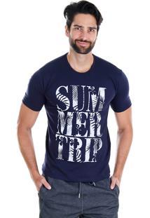 Camiseta Masculina Onnes - Marinho