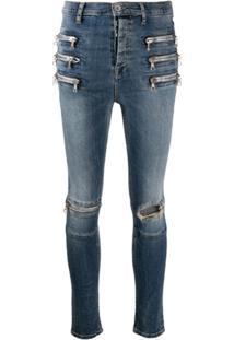 Unravel Project Calça Jeans Skinny Triple Zip - Azul