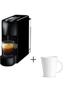 Cafeteira Nespresso Essenza Preto C30-Br - 110V + Canecas Basic Em Ceramica 04 Pecas Branco - Porto Brasil