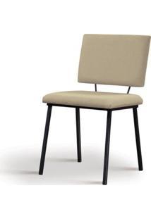 Cadeira Preciosa Bege Base Preta - 55856 - Sun House