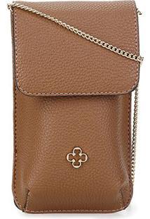 Bolsa Capodarte Soft Relax Mini Bag Feminina - Feminino-Marrom