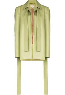 Matériel Blazer Com Detalhe Drapeado - Verde