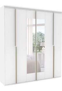 Guarda-Roupa Casal Com Espelho Sonhare Lll 6 Pt Branco