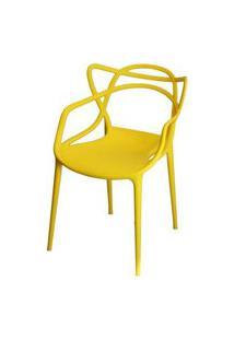 Cadeira Master Allegra Polipropileno Amarela - 21399 Amarelo