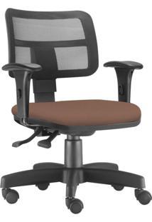 Cadeira Giratã³Ria Executiva Lyam Decor Zip Corino Camel - Caramelo - Dafiti