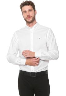 Camisa Tommy Hilfiger Reta Custom Branca