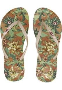 Sandália Feminina Coca Cola Jungle Floral