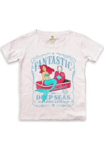 Camiseta Ampla Cool Tees Sereias Em Conservas Feminina - Feminino-Rosa