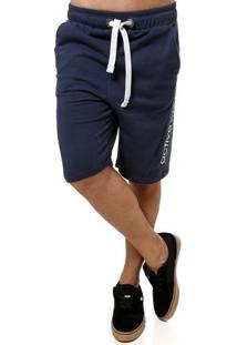 Bermuda Moletom Masculina Azul