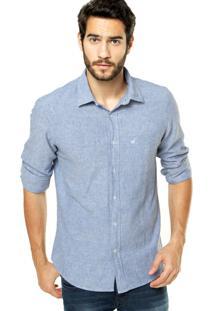 Camisa Zapälla Casual Azul