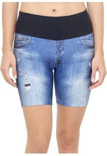 Bermuda Live Athletic Plus Jeans - Feminino