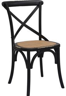 Cadeira De Madeira Katrina -Rivatti - Preto