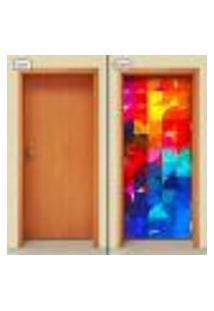 Adesivo Decorativo De Porta - Abstrato - 1224Cnpt