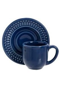 Xícara De Chá Roma Azul Escuro 160 Ml- Porto Brasil