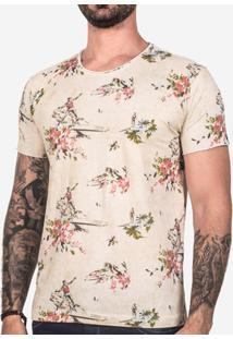 Camiseta Hermoso Compadre Surfers Masculina - Masculino-Bege