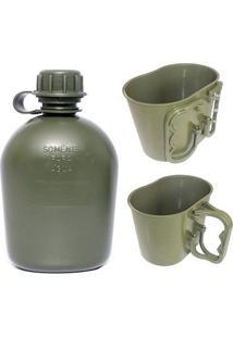 Kit Cantil E Caneco Para Camping Padrão Eb Atacado Militar - Unissex