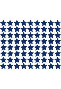 Adesivo De Parede Estrelas Azul Royal 54Un