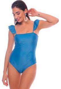 Body Angel Brazil Del Mar Feminino - Feminino-Azul Claro