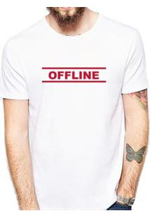 Camiseta Coolest Offline Masculina - Masculino-Branco