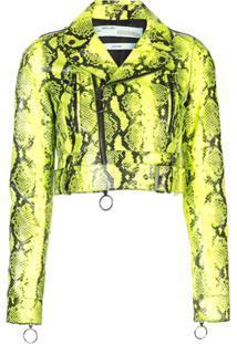 Off-White Python Biker Jacket - Verde