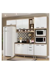 Cozinha Completa Multimóveis Com 5 Peças Sicília 5829 Argila/Branco