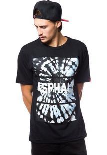 Camiseta Asphalt Swirl Tie Masculina - Masculino-Preto