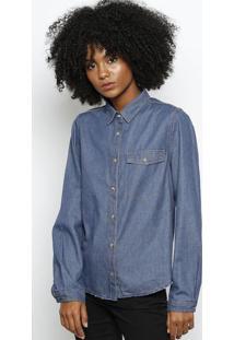 Camisa Jeans Com Bolsos- Azul Escurohering