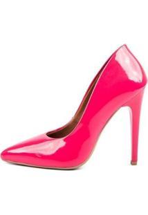 Scarpin Verniz Di Scarp Salto Alto Leve Festa Feminino - Feminino-Rosa Claro+Pink