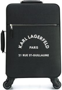 Karl Lagerfeld Logo Suitcase - Preto