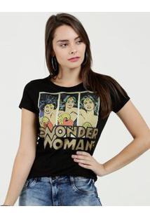 Blusa Feminina Estampa Mulher Maravilha Warner Bros