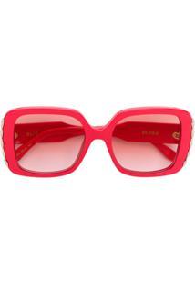 ... Elie Saab Óculos De Sol Quadrado Oversize - Vermelho aa11482d2f