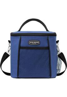 Bolsa Térmica- Azul Escuro & Preta- 19X21X15Cm- Jacki Design