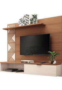 "Home Suspenso Grid Para Tvs Até 50"" Nature/Off White"