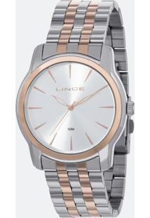 Kit Relógio Feminino Lince Lrt4551L-Ku90S1Sr Analógico 5Atm + Pulseira