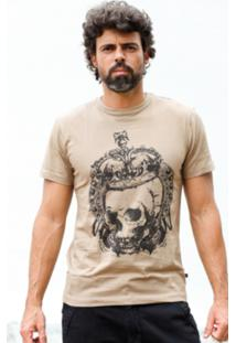 Camiseta Manga Curta Hardivision King Of Skull Marrom